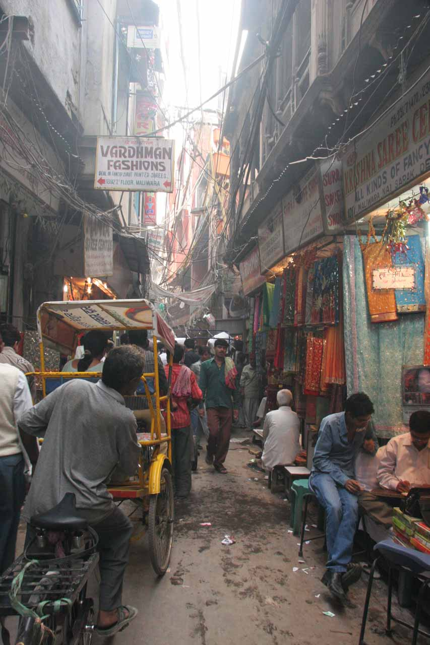 In the chaos of the Chandni Chowk bazaar