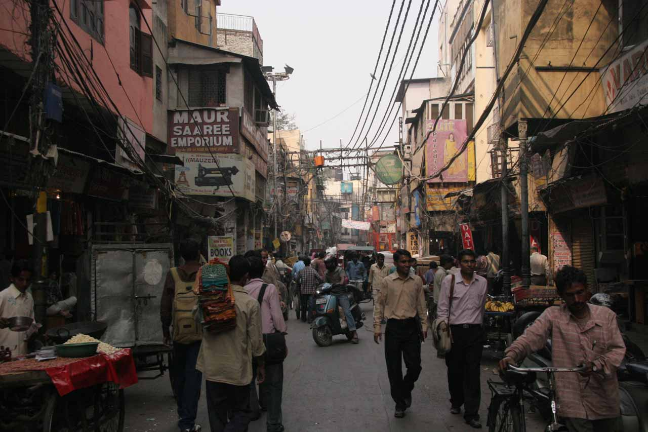 More meandering through the Chandni Chowk bazaar