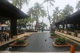Denerau_005_11102019 - Looking out toward the backside of the lobby at the Westin Fiji in Denerau under pouring rain