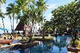 Denerau_032_11102019 - Looking back across the swimming pool of the Westin Fiji in Denerau