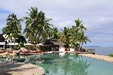 Denerau_036_11102019 - Looking across the swimming pool at the Sheraton Villas in Denerau