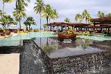 Denerau_046_11102019 - Looking across a fountain and swimming pool at the Sheraton Fiji in Denerau
