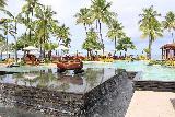 Denerau_053_11102019 - Looking back over a fountain fronting a swimming pool at the Sheraton Fiji in Denerau