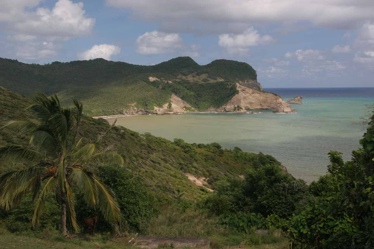Nice view of the coastline from the fishing town of Dennery