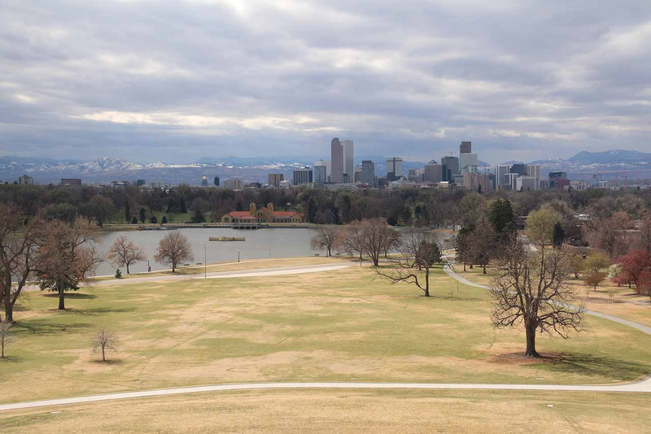 View towards the Rockies and downtown Denver from the Sky Terrace at the Denver Museum of Nature and Science