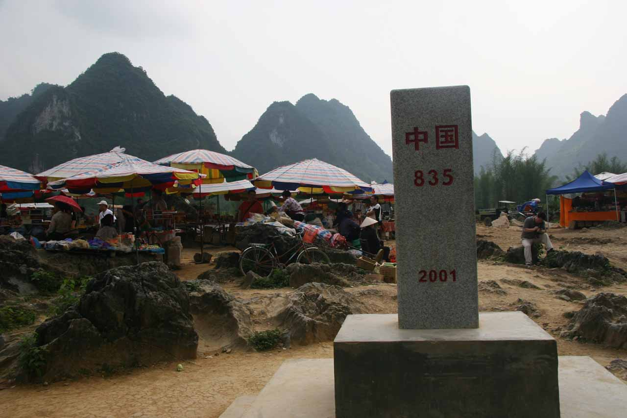The 53rd boundary marker between China and Vietnam