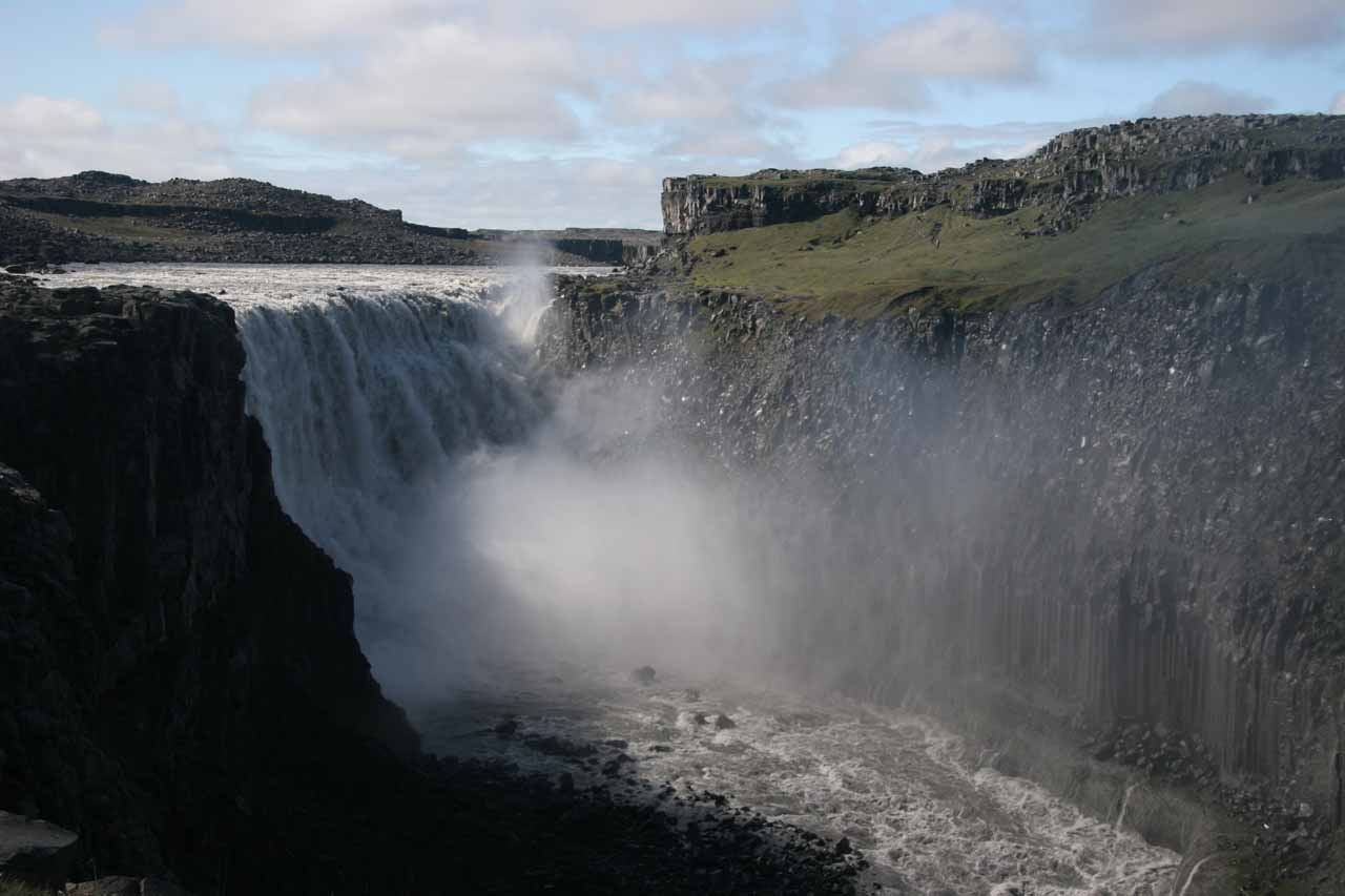 This was probably the most complete view I could get of Dettifoss, which was only possible from its east bank