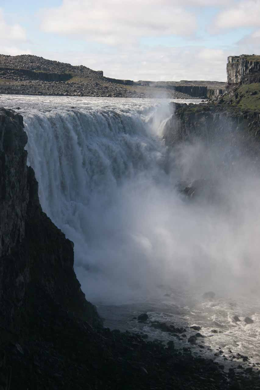 Full view of Dettifoss from the east bank
