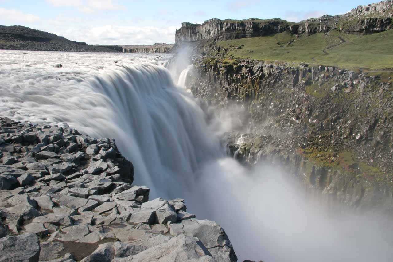 We then had to get past the Dettifoss waterfall itself