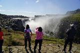 Dettifoss_044_08122021 - People checking out the east side of Dettifoss as of 2021