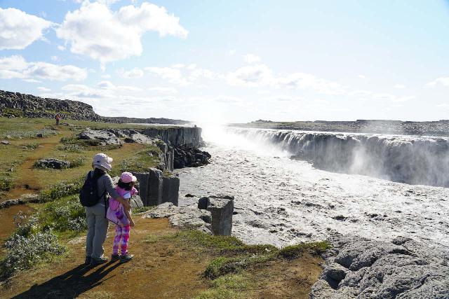 Dettifoss_154_08122021 - Julie and Tahia checking out the swollen Selfoss from its east side during our August 2021 visit