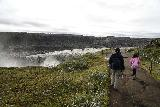 Dettifoss_West_049_08132021 - Tahia and Julie approaching the brink of Dettifoss