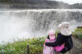 Dettifoss_West_085_08132021 - Julie and Tahia checking out Dettifoss from the nearest lookout spots where we could quite literally feel its power