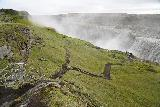 Dettifoss_West_120_08132021 - Last look down at the context of the trails leading to the closest west side viewing spots of Dettifoss