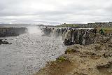 Dettifoss_West_205_08132021 - Looking back at the context of people going up to the end of the Selfoss west side trail as we were heading back