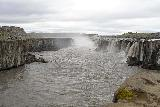 Dettifoss_West_217_08132021 - Broad look at Selfoss with people on the east side providing a sense of scale