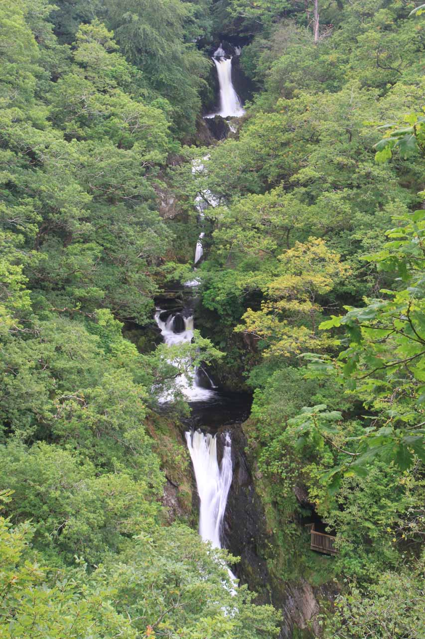 Mynach Falls, which was also called Devils Bridge Falls
