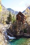 Devils_Punch_Bowl_Crystal_Mill_420_10172020 - More zoomed in look at the Crystal Mill and waterfall with colorful plunge pool from before the final descent to the banks of the river