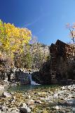 Devils_Punch_Bowl_Crystal_Mill_465_10172020 - Another contextual look at the Crystal Mill with waterfall from the banks of the Crystal River