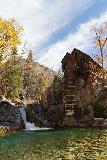 Devils_Punch_Bowl_Crystal_Mill_503_10172020 - More orangish look at the Crystal Mill and Waterfall in long exposure