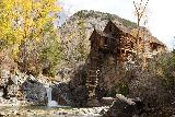Devils_Punch_Bowl_Crystal_Mill_531_10172020 - Zoomed in look from further downstream along the Crystal River back towards the Crystal Mill and the waterfall