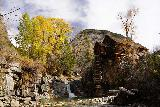 Devils_Punch_Bowl_Crystal_Mill_542_10172020 - More contrasted look at the Crystal Mill and waterfall with Fall foliage
