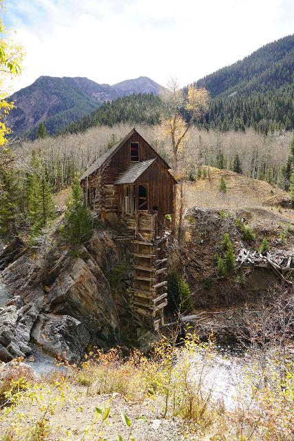 Devils_Punch_Bowl_Crystal_Mill_569_10172020 - While most people visit the famous Crystal Mill via 4wd road from Marble, it was also possible to drive from Crested Butte to Schofield Park, then hike to the mill (which was actually a former power station)