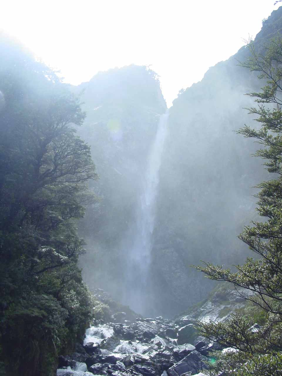 Devils Punchbowl Falls viewed from its base