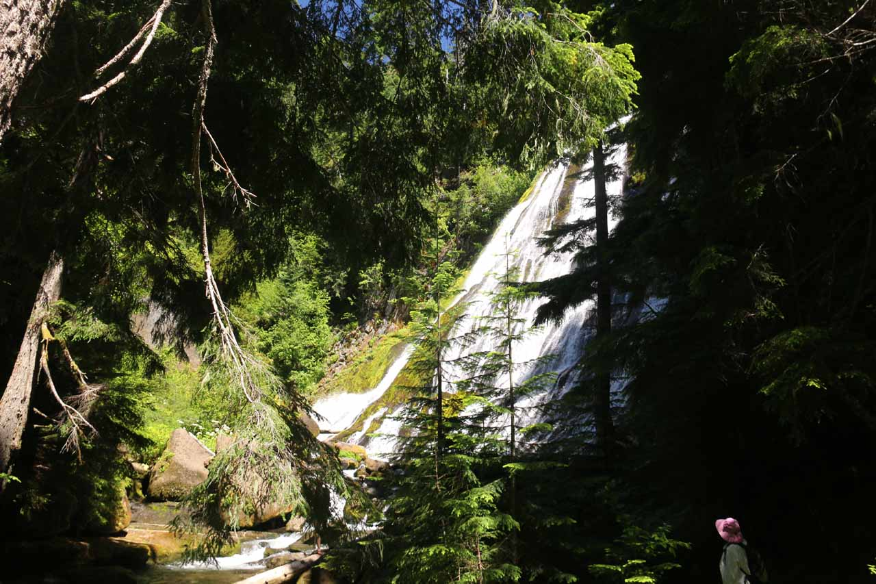 Our first look at Diamond Creek Falls as we were making the approach to its base