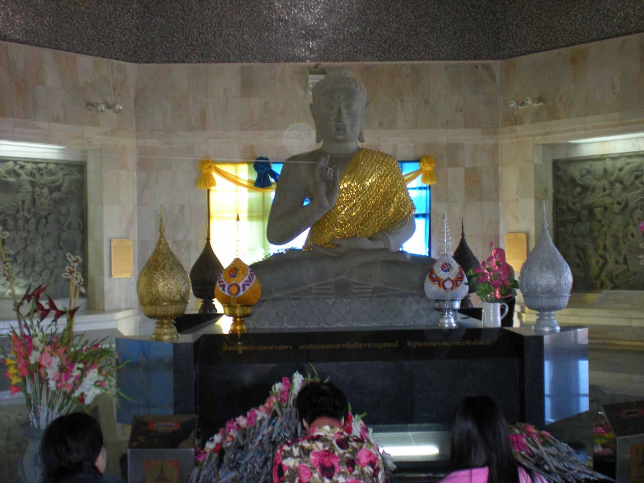 Another Buddha statue in one of the chedis