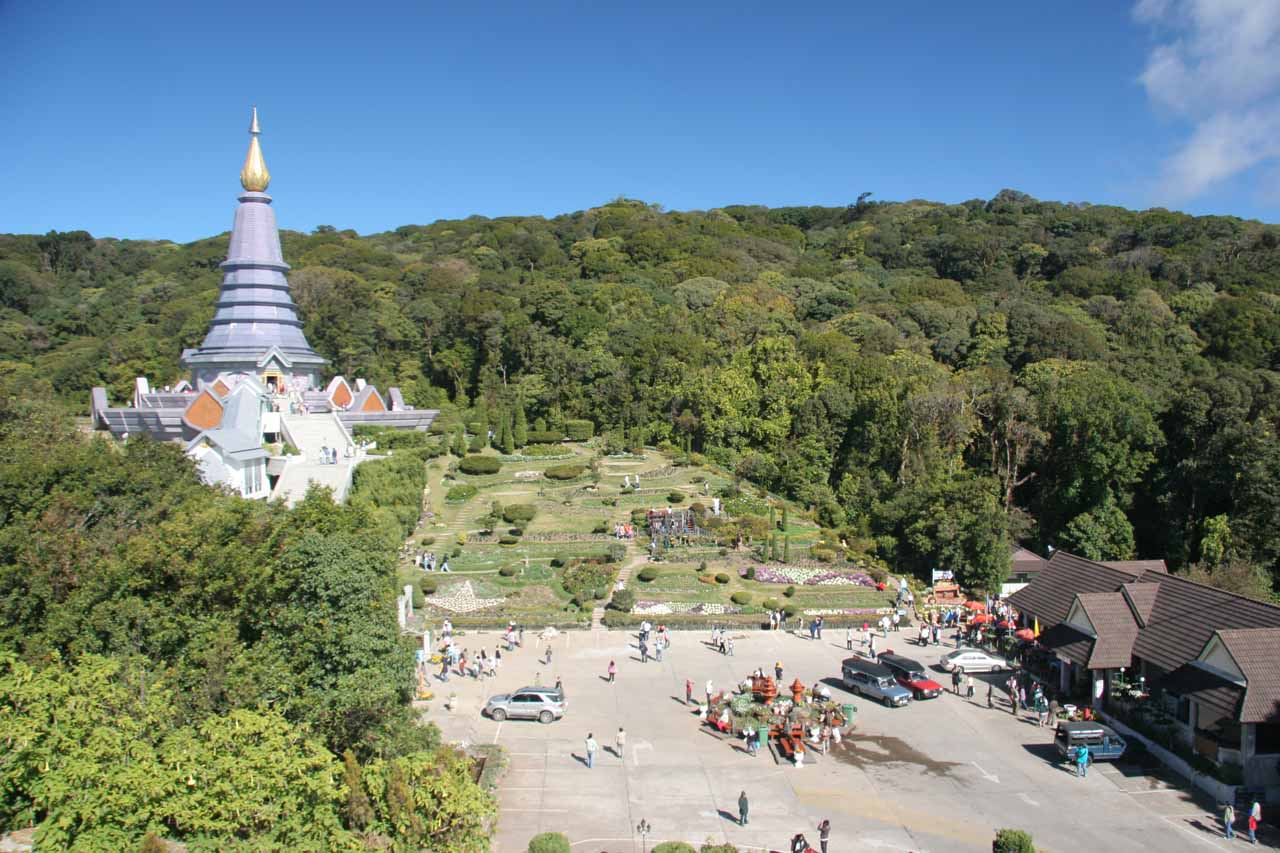 This silver chedi was one of two main chedis at the summit of Doi Inthanon. It was very busy during our visit as many Thais come here on holiday to sightsee and worship