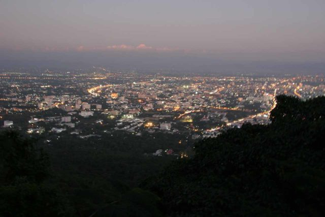 Doi_Suthep_075_12292008 - The summit of Doi Suthep was where we managed to get this view over Chiang Mai as well as experience another one of Thailand's important heritage and religious sites