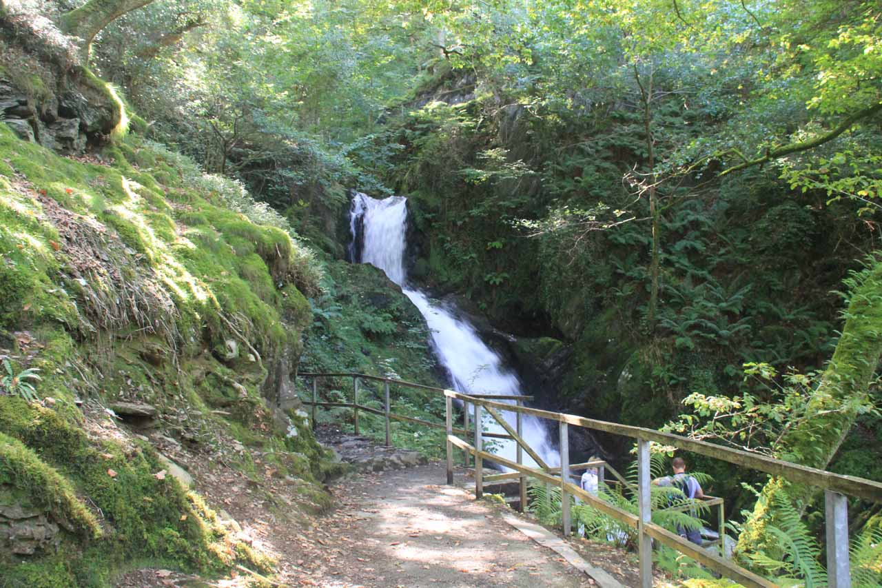 Approaching the first Dolgoch Falls