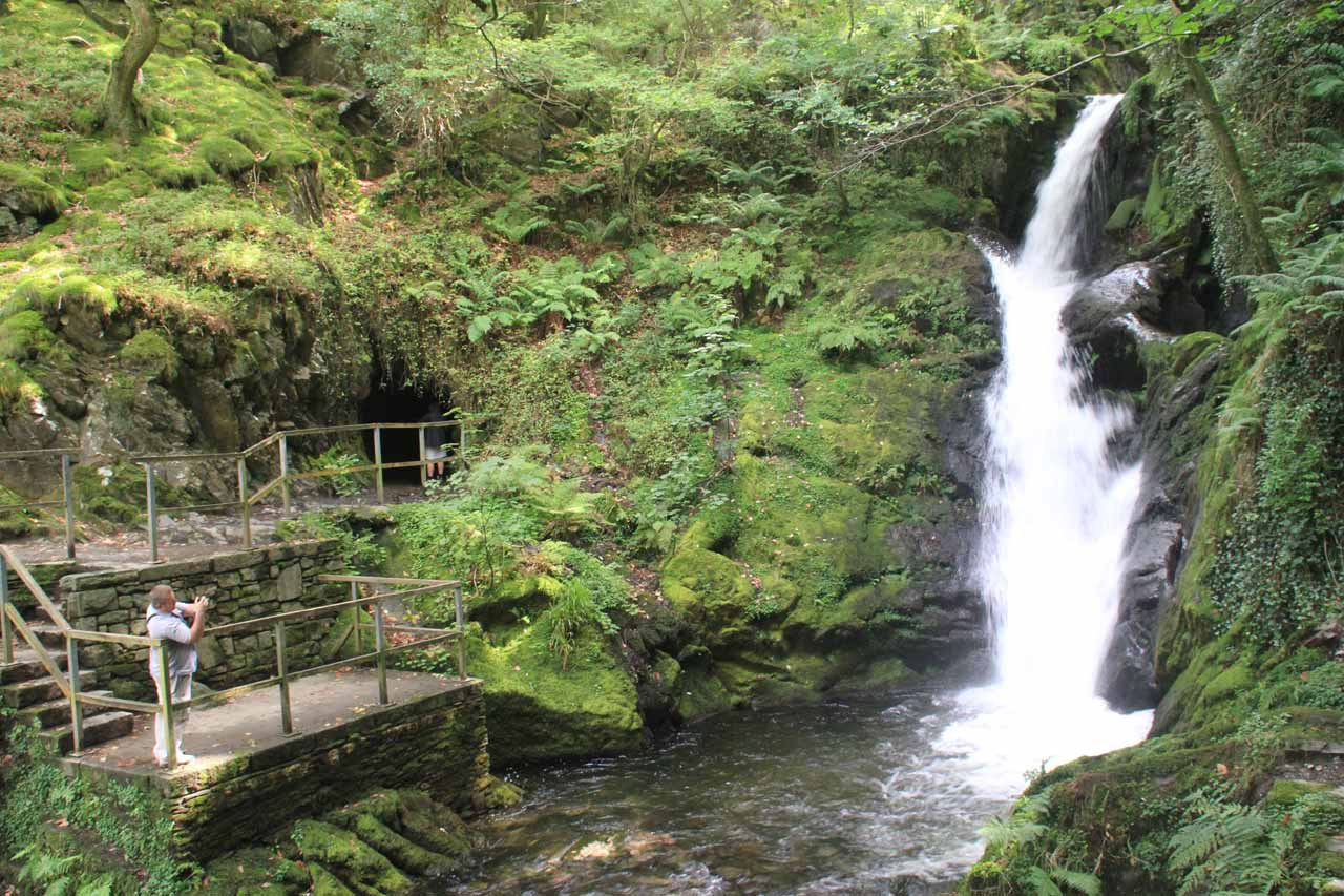 Back at the Lower Dolgoch Falls on the other side of the stream