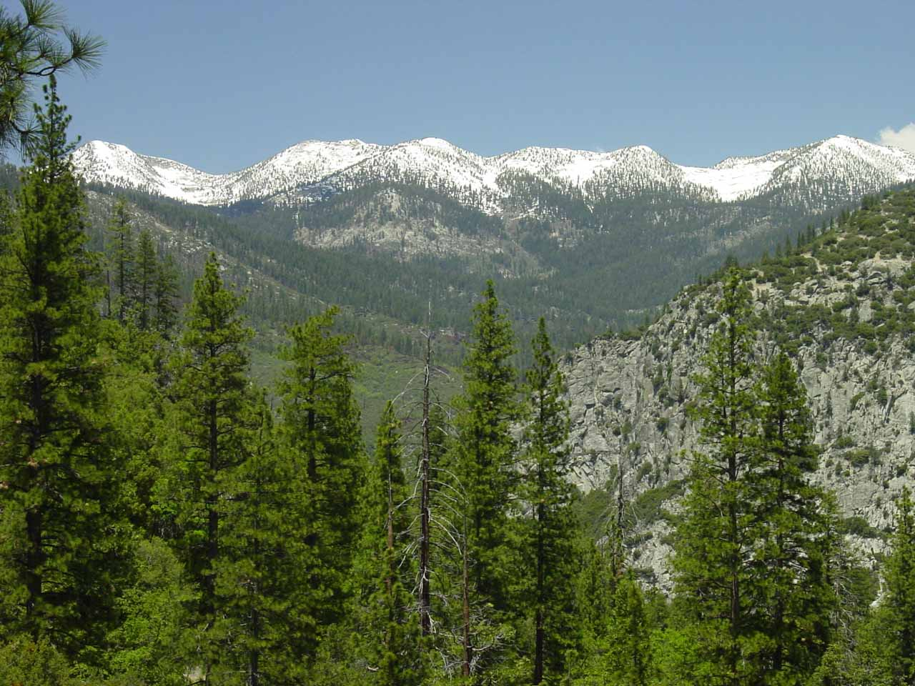 Pretty view towards the Monarch Divide from the Don Cecil Trail