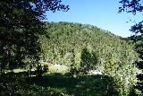 Donut_Falls_037_08092020 - Our first glimpse at the parking situation for the official Donut Falls Trailhead as seen from the trail