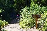 Donut_Falls_084_08092020 - Noticing some sign saying that the Mill D South Fork Creek was actually part of Salt Lake City's drinking water source