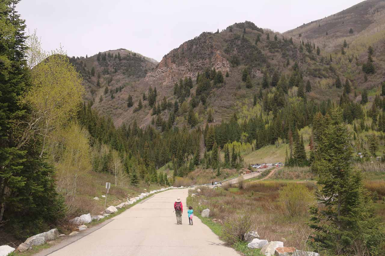 Finally heading back to the Big Cottonwood Canyon Road where there were even more cars than when we had gotten started