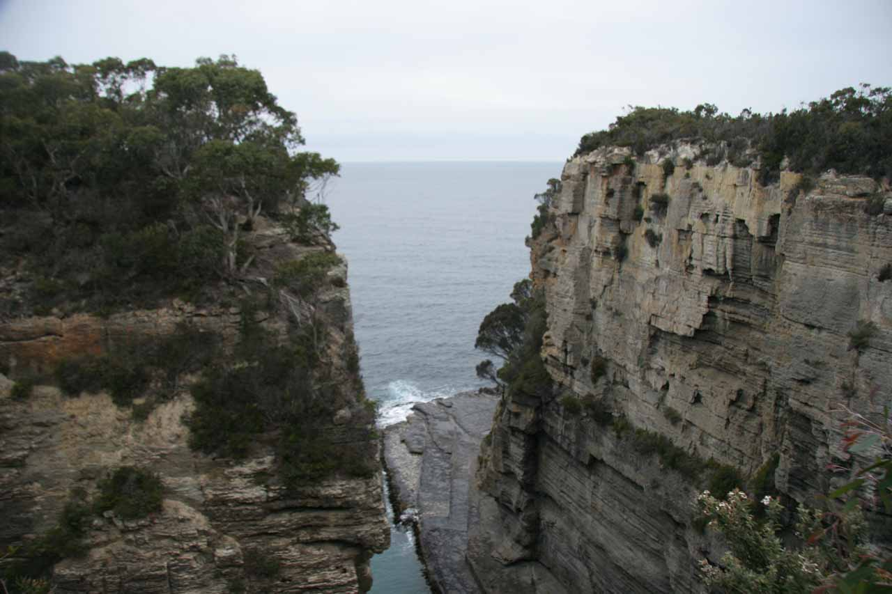 Roughly 90-120 minutes to the southeast of Hobart on the Tasman Peninsula was the rugged coastline near Dootown featuring gorges, sea arches, blowholes, and more