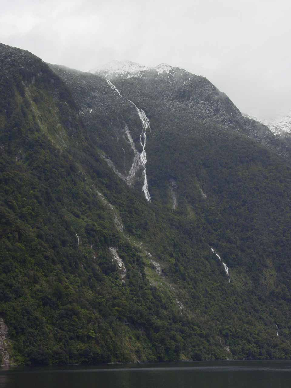 Our first look at Browne Falls as we went deeper into Doubtful Sound