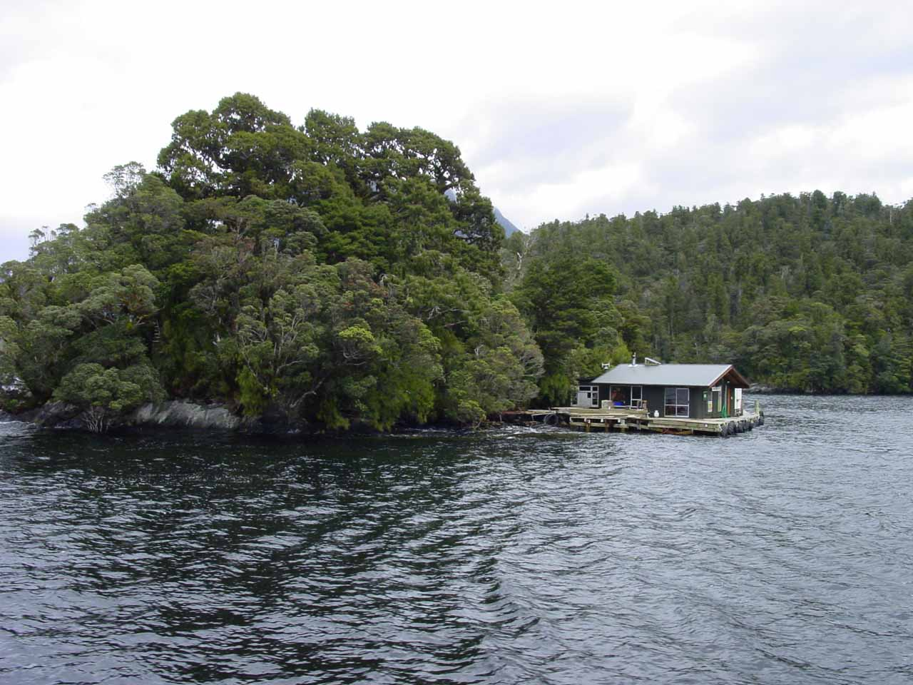 This built-up shelter well into the Doubtful Sound struck me as strange for I knew not what it was there for nor who would live there in apparent isolation