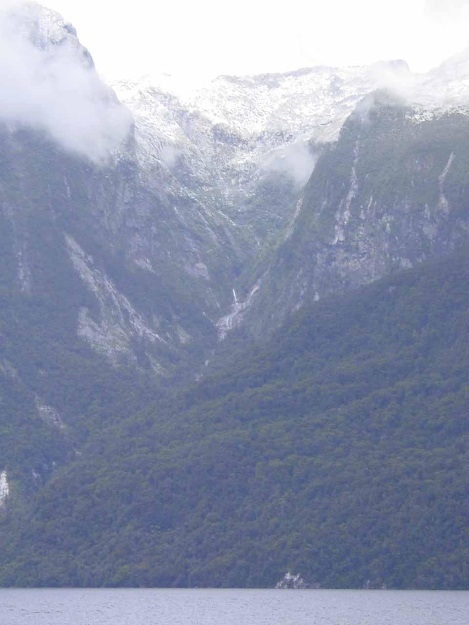 Looking towards an interesting mountain scene