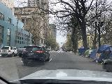Downtown_Portland_008_iPhone_04072021 - Driving on SW 4th Ave lined by homeless tents in downtown Portland