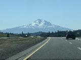 Drive_from_Eugene_007_iPhone_04092021 - Looking ahead at Mt Shasta as we headed south on the I-5 after having crossed into California