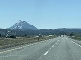 Drive_from_Eugene_011_iPhone_04092021 - Passing Mt Shasta and noticing the Black Butte (I think) as we continued south towards the town of Mount Shasta on the I-5