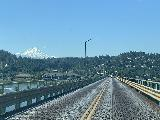Drive_to_Bend_004_iPhone_06262021 - Another look at the narrow bridge going across the Columbia River back to Hood River with Mt Hood in the background