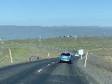 Drive_to_Dettifoss_East_017_iPhone_08122021 - Descending the road towards Egilsstadir as there were still many slow moving vehicles from the ferry that hesitated to use the pullouts