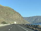 Drive_to_Tygh_Valley_011_iPhone_04052021 - Continuing to drive the I-84 west alongside the I-84 and the Columbia River