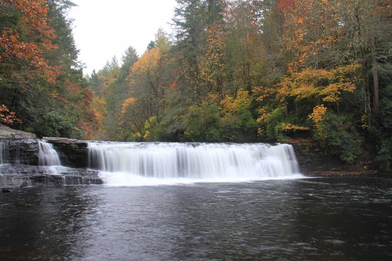 Frontal look at Hooker Falls