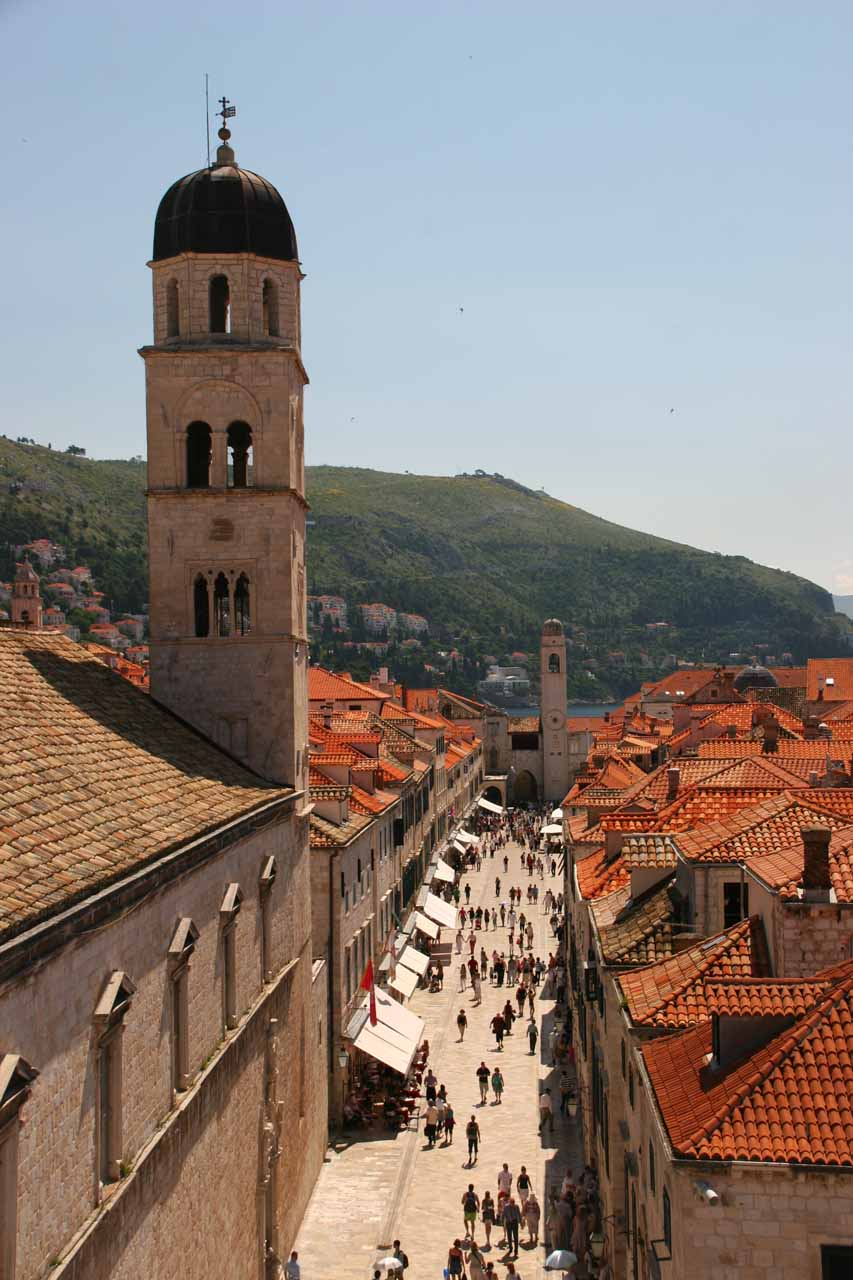 The Stradun from the City Walls